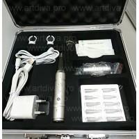 Перманентная машинка Goochie PROF Korea для татуажа в наборе с иглами и дюзами в кейсе