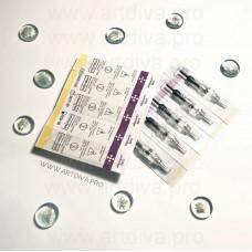 Иглы модульные для татуажа губ, бровей и век Easy-Click Евро-стандарт для перманентных аппаратов