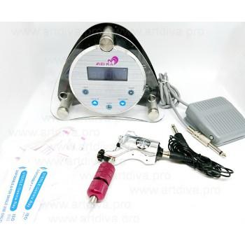 Оборудование для татуировок и татуажа машинка роторная Bishop Rotary c блоком управления Диджитал