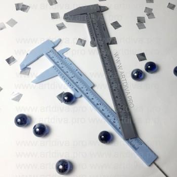 Линейка штангенциркуль для татуажа и микроблейдинга бровей