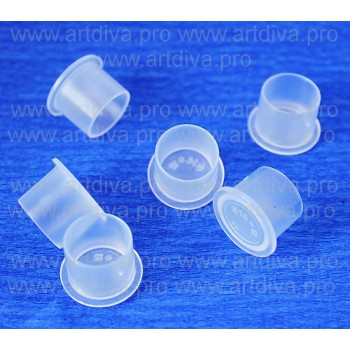 Колпачки стаканчики для пигментов и тату красок маленького размера на подставке