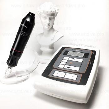 Ручка EZ pen Power для пикселей татуажа и татуировок в комплекте с блоком питания Шаен