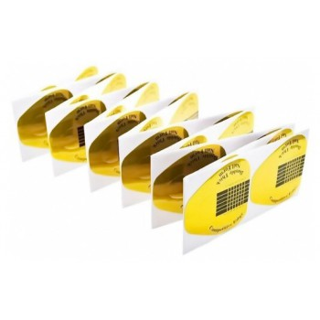 Формы одноразовые золотистые для наращивания ногтей гелем и акрилом
