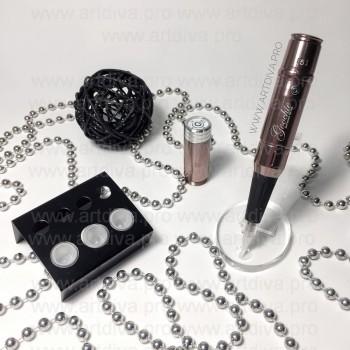 Оборудование для татуажа Goochie Flat Line Pro в комплекте с аккумулятором и расходным материалом