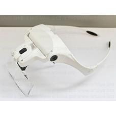Очки с лупой и LED подсветкой белые