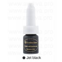 Пигмент для татуажа стрелок Golden Rose 10мл Jet Black Угольно- Черный