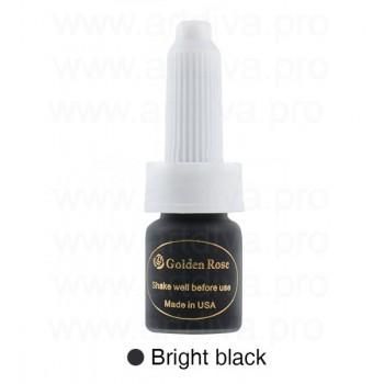 Пигменты для татуажа 10 мл Golden Rose Bright Black Ярко Черный