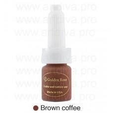 Краска для татуажа пигмент Golden Rose Brown Coffee Коричнево- Кофейный 10мл