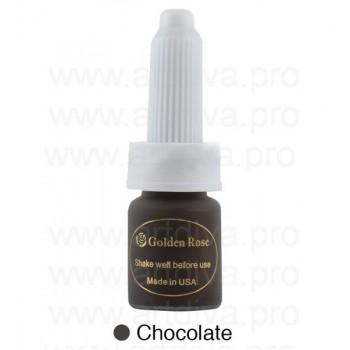 Пигмент 10мл для татуажа бровей Golden Rose Chocolate Шоколадный