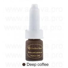 Темно-кофейный пигмент для татуажа бровей Golden Rose Deep Coffee 10мл