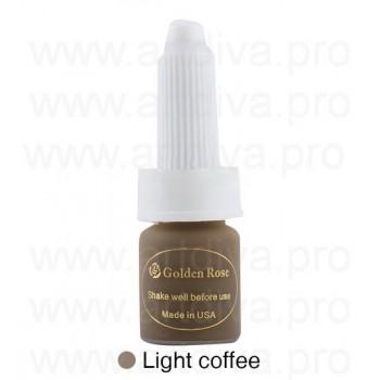 Пигмент 10мл для татуажа бровей Golden Rose Deep Brown Coffee Темно - Кофейный