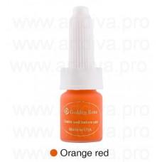 Краска для татуажа корректор для губ Golden Rose Orange Red Оранжевый 10мл