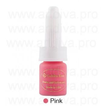 Пигмент 10мл для татуажа губ Golden Rose Pink Розовый