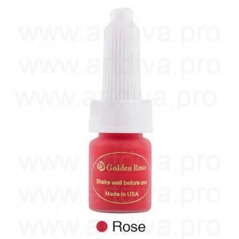 Пигмент Rose Red 10 мл для татуажа губ Golden Rose Розово-красный