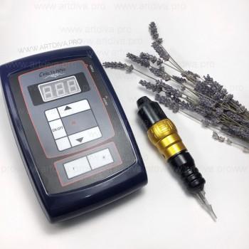Роторная тату машинка для татуажа и татуировок H-star pen с картриджами и блоком Шаен в комплекте