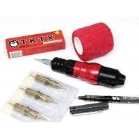 Машинка роторная H-star pen PRO red для перманентного макияжа и тату