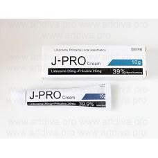 Крем J-PRO мгновенная анестезия для татуажа, микроблейдинга, косметологии