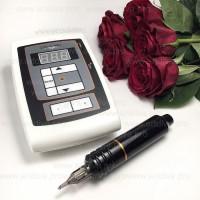 Машинка роторная Cheyenne Pen с блоком Шаен White для татуажа и татуировок