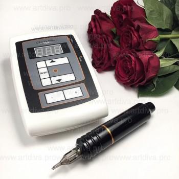 Профессиональная машинка для татуировок и татуажа Cheyenne Hawk с модульными иглами и блоком Шаен в комплекте