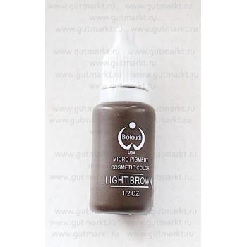 Пигмент для татуажа Light Brown Светлый Коричневый Biotouch Биотач