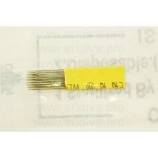 Для микроблейдинга игла скругленная 17U двухрядная желтая
