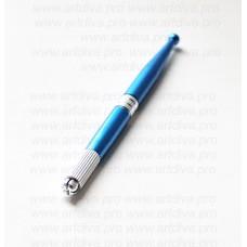 Ручка для мануальной техники татуажа синяя