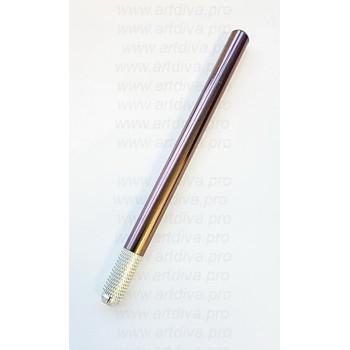 Ручка для ручной техники татуажа шоколадная