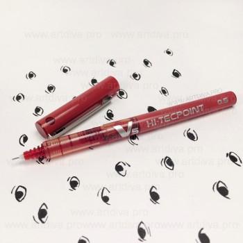 Инструменты для микроблейдинга и татуажа красный маркер для эскиза