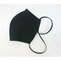 Многоразовая маска размер S стрейч трикотаж Анатомическая черная