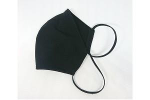 Многоразовая маска стрейч трикотаж Анатомическая черная