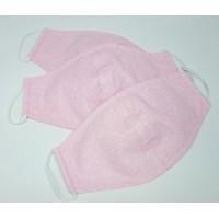 Многоразовая маска гигиеническая тканевая Анатомическая розовая