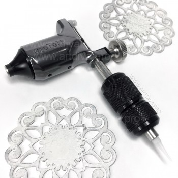 Оборудование для татуировок и татуажа машинка ротор NeoTat Rotary Tattoo Grey c переходником
