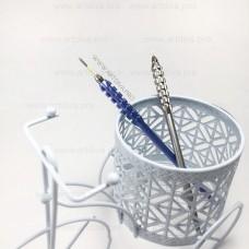 Ручка манипула для микроблейдинга Гофро платиновая