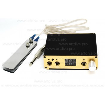 Панель управления Power Gold для подключения к машинке для татуажа и тату ручки
