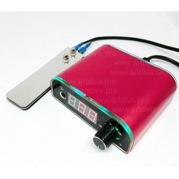 Панель управления Power BMX Red для подключения к машинке для татуажа
