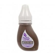 Перманентный пигмент для бровей Pure Line коричневый Medium Ash