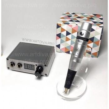 Аппарат для перманентного татуажа Sunshine Flat Line Silver с блоком Power