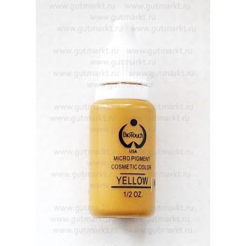 Пигмент для татуажа Yellow Желтый Biotouch Биотач